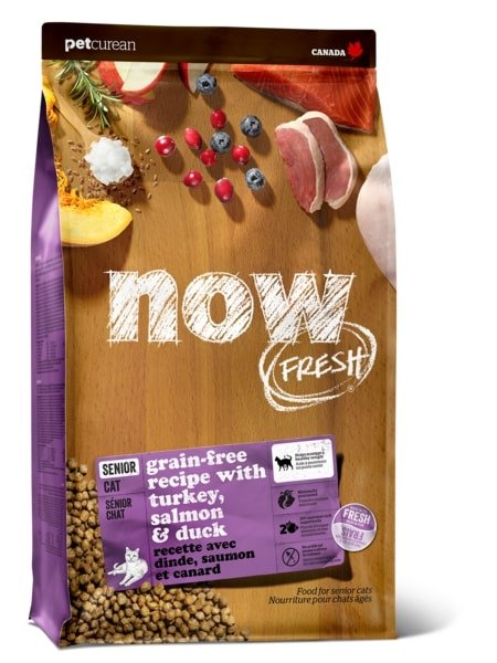 Now Fresh - Turkey Salmon & Duck Senior Cat Food 4 LB