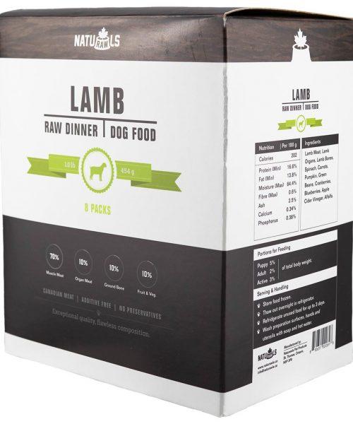 Naturawls Raw Lamb & Veggie 1LB