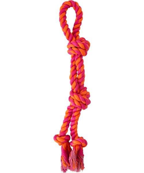 """Knotty & Nice - Split Rope Orange & Pink 17.75"""""""