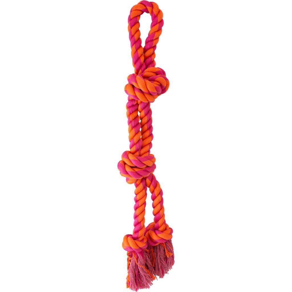 """Knotty & Nice - Split Rope Orange & Pink 23.5"""""""